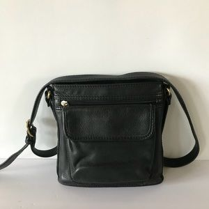 Fossil 75082 Black Leather Crossbody